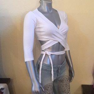 Victoria's Secret vintage moda cross tie top XS